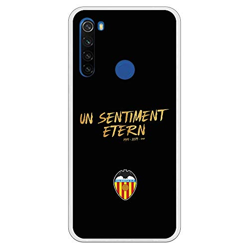 Funda para Xiaomi Redmi Note 8T Oficial del Valencia CF Un Sentiment para Proteger tu móvil. Carcasa para Xiaomi de Silicona Flexible con Licencia Oficial del Valencia CF.