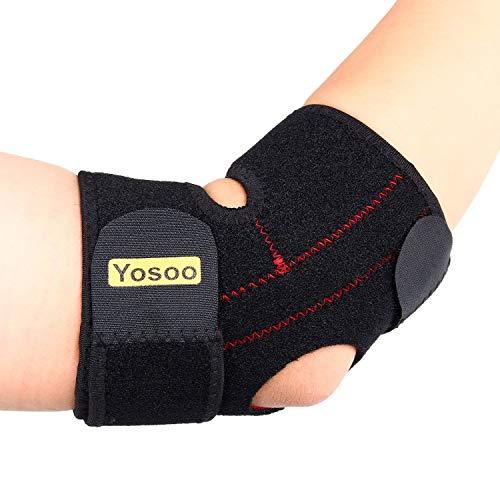 Yosoo Verstellbare Neopren Tennis Golfer Ellenbogen-Bandage Wrap Arm Halteband Band