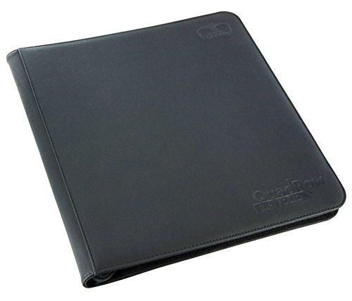 Ultimate Guard QuadRow 12-Pocket ZipFolio XenoSkin Black Card Game