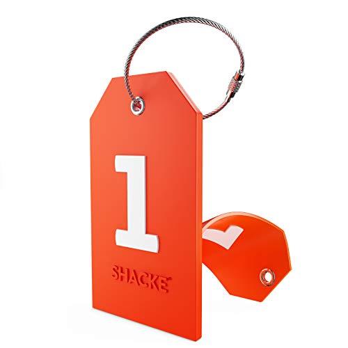 Etiqueta Inicial para Equipaje con Cubierta de privacidad Completa y Bucle de Acero Inoxidable (número 1)