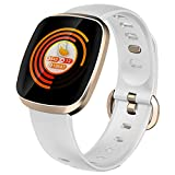 Smart Watch, Fitness Tracker Watch Touch Screen with Blood Oxygen Pressure Heart Rate Sleep Monitor Pedometer Call SMS SNS Alert Music Control Waterproof for Men Women Compatible with Android IPhone