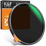 K&F Concept Filtro ND Variable 77mm ND2-400 (1-8.6 Stop) Serie Nano X II in Vetro Ottico con Nano-rivestimento a 28 Strati para Objetivo 77mm
