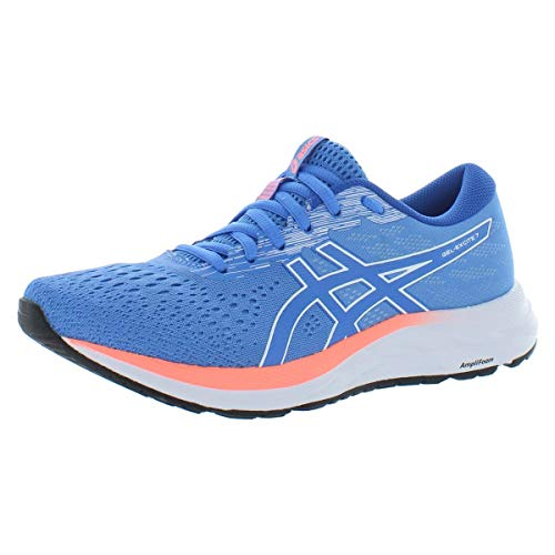ASICS Women's Gel-Excite 7 Running Shoes, 8, Blue Coast/White