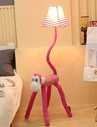QIDOFAN Lámpara de pie De pie luminarias de tela vertical Niño de dibujos animados de la librería de la personalidad creativa Bombilla incluida, Rosa (Color : Pink)