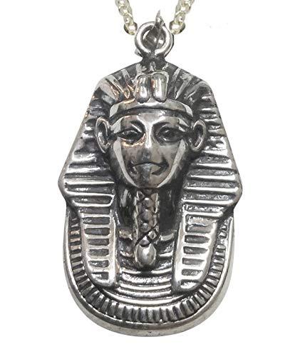Sicuore Colgante Collar Faraon Tutankamon para Mujer Hombre - Plata De Ley 925 Incluye Cadena De Plata De 45cm Y Estuche para Regalo