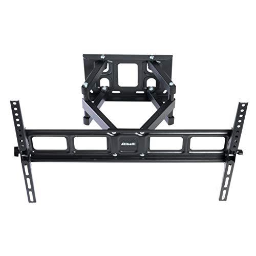 Ribelli® TV Wandhalterung Schwenkbar Neigbar für 32 – 84 Zoll (81 – 203 cm) OLED, LED, LCD, Plasma Curved Fernseher bis zu 50kg, max. VESA 600 x 400mm