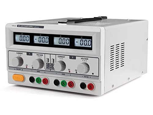 Velleman LABPS23023 Dual DC Lab Power Supply with 4 LCD Displays, 240 V, Multi-Colour
