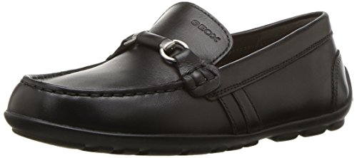 Geox J New Fast Boy C, Mocasines Hombre, Negro (Black C9999), 38 EU