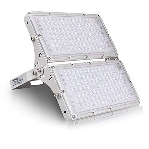 200W Focos LED Exterior 16000lm Proyector LED Floodlight Impermeable IP65 6500K Blanco Frío Luz de Seguridad Reflector LED para Jardín Patio Garaje Cartelera [Clase Energética A+]