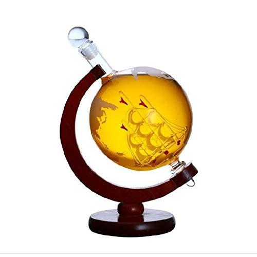 Caraffa per Vino Rosso in Verto Cristallo Trasparente Soffiato a Mano Senza Piombo Decantatore Accessorio per Vino regalo e accessorio per amanti del vino