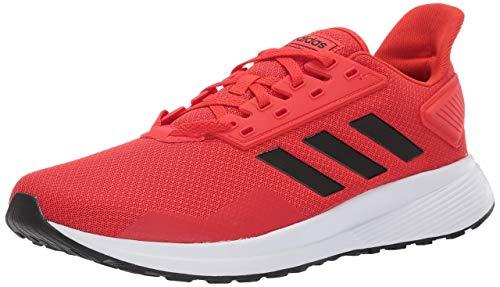 adidas Men's Duramo 9 Running Shoe, Red/Black/White, 11