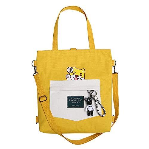 min min Rucksack Crossbody Bag Damen Handtaschen Cartoon Print Tuch Leinwand Einkaufstasche Baumwolle Einkaufen Reisende Frauen Eco Wiederverwendbare Schulter Shopper Taschen