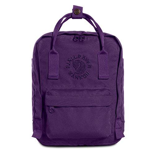 FJÄLLRÄVEN Unisex-Erwachsene Re-kånken Mini Rucksack, Violett (Deep Violet), 20x29x13 cm (B x H x T)
