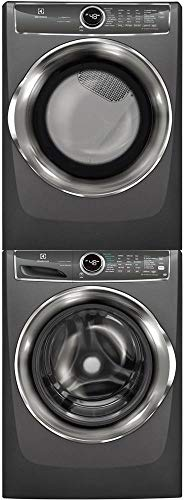 Electrolux Titanium Front Load Laundry Pair with EFLS627UTT 27 Washer, EFMG627UTT 27 Gas Dryer and STACKIT7X Stacking Kit