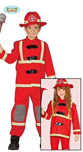 Fiestas Guirca Déguisement de Pompier pour Enfant 5-6 Ans