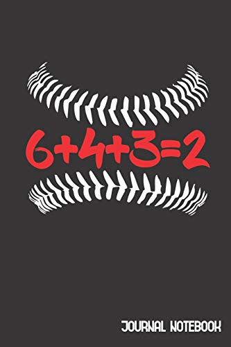 6+4+3=2 Journal Notebook: Cute Composition Notebook College Ruled Line Paper Gift For 6432 Baseball Sport Lovers Mom Dad Kids 6 x 9 inch