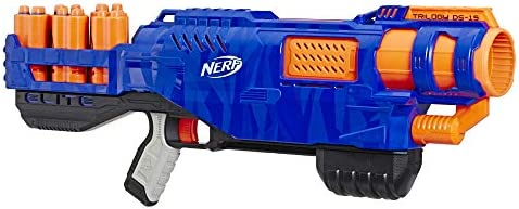 Trilogy DS-15 Nerf N-Strike Elite Toy Blaster with 15 Official Nerf Elite Darts and 5 Shells – For Children, Teens, Adults
