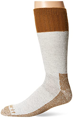 Carhartt Men's LG (US Extremes Cold Weather Boot Socks, Brown, Shoe: 6-12