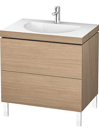 Duravit Duravit Waschtischunterbau L-CUBE mit Waschtisch Vero Air, 500 x 1000 x 480 mm 3 Hahnlöcher europäische eiche