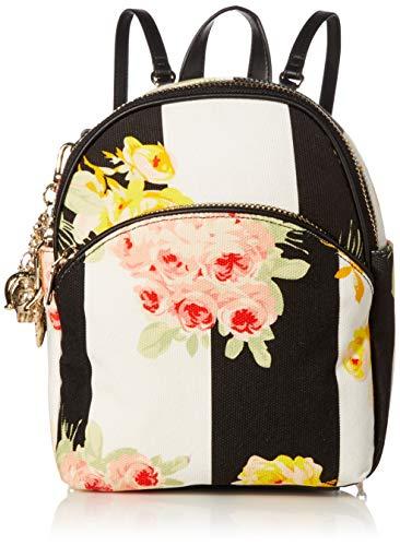Betsey Johnson Women's Floating Away Backpack, Black/White, 9' L X 11' H X 4' D