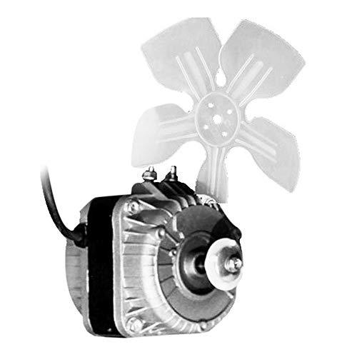 Loriver Motor de refrigeración del refrigerador, Ventilador de refrigeración del congelador, Motor de refrigeración Universal del refrigerador sin Tapa, Ventilador de Condensador de 220 V 60 W