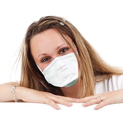 FFP2 Maske ohne Ventil ◆ Atemschutzmaske Staubmaske Mundschutzmaske ◆ CE 2163 EN149 zertifiziert ◆ 10 Stück - 7
