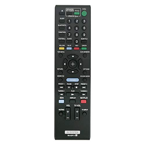 Miwaimao New RM-ADP111 Replaced Remote Control fit for Sony Audio System BDV-E2100