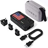 TRYACE 2200W Travel Voltage Converter with 10A Dual Adapter 4-Port USB, Travel Power Converter Step Down 220V to 110V with UK/AU/EU International Plug Converters for Hair Dryer/Straightner