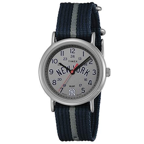 [TIMEX] 腕時計 ウィークエンダーニューヨークヤンキースMLBトリビュー TW2T54900 メンズ ブラック