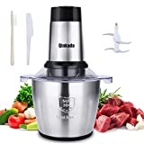 Electric Meat Grinder, Qinkada 500W Food Processor 3.5L Chopping Meat, 14Cup Large Stainless Steel...