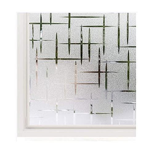 Siunwdiy Fensterfolie Milchglas Selbstklebend,Milchglasfolie Ornamente, Sichtschutzfolie Fenster Folie Milchglas Für Büro Oder Zuhause,80x300cm(32