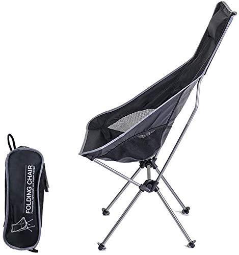 WJXBoos Silla de camping plegable, ligera, compacta y duradera silla de playa (soporta 300 libras) para bolsa de camping, mochilero, al aire libre y para transporte (color: oro)