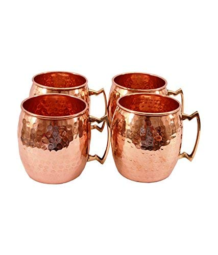 Set of 40 Moscow Mule Copper Plated Mugs Brass Handles Classic Drinking Cup Set Home, Kitchen, Bar Drinkware Helps Keep Drinks Colder - Copper Mugs 16 oz Gift Set (40)