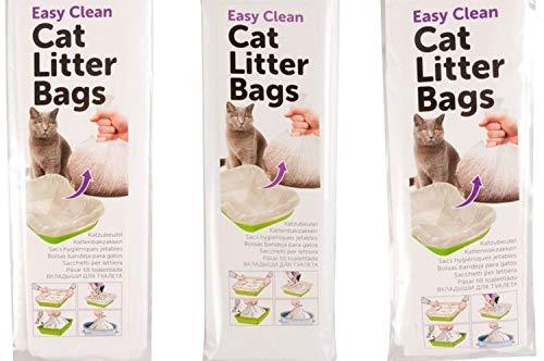 Cajou 30 Stück Katzentoilettenbeutel - Hygienebeutel für Katzenklo mit Zugleine (Normal 30 x 50 cm)