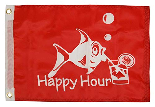 Taylor Made Products 5418 12 x 18 Happy Hour Flag