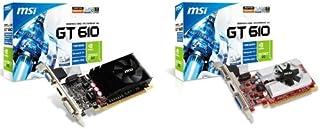 MSI N610GT-MD1GD3/LP - Tarjeta gráfica (GeForce GT 610, 2560 x 1600 Pixeles, NVIDIA, 1 GB, DDR3-SDRAM, 64 Bit)