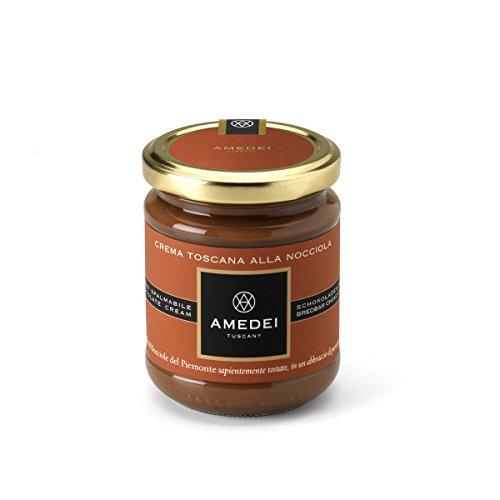 Amedei Crema Toscana alla Nocciola Streichcreme mit 47% Haselnussanteil und Milch glutenfrei lezithinfrei