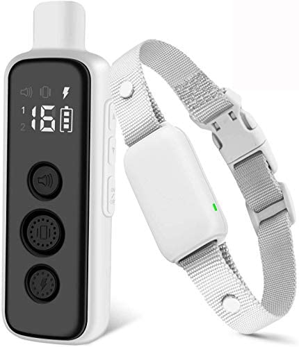 Bousnic Shock Collar for Dogs Waterproof Rechargeable Dog Electric Training Collar with Remote product image
