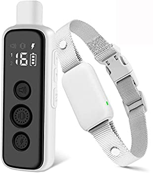 Bousnic Shock Collar for Dogs - Waterproof Rechargeable Dog Electric Training Collar with Remote for Small Medium Large Dogs with Beep Vibration Safe Shock Modes  8-120 Lbs