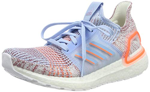 adidas Women's Ultraboost 19 W Running Shoes, Blue (Glow Blue/Hi/Res Coral/Active Maroon Glow Blue/Hi/Res Coral/Active Maroon), 8.5 UK