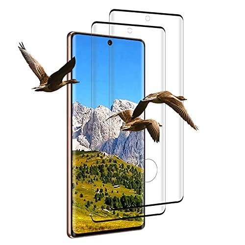 [2 Pezzi] Pellicola Protettiva in Vetro Temperato per Samsung Galaxy Note 20, Anti-Impronte, Antigraffio, Durezza 9H, Pellicola Protettiva per Display per Samsung Galaxy Note 20 [Nero]