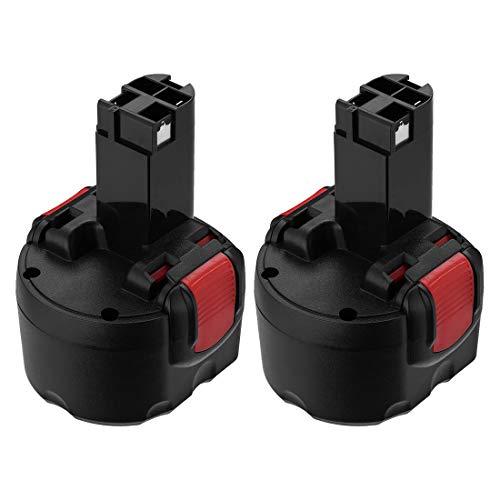 SHGEEN [2Stück] 9.6V 3.0Ah Für Bosch Ni-MH Akku BAT048 PSR 960 BAT100 BAT119 BH984 BPT1041 23609 32609 2607335260 2607335272 PSR960 GSR 9.6VE-2 GSR 9.6-2