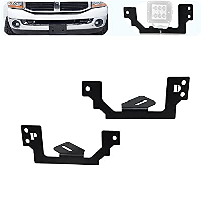 Dasen LED Fog Light Mount brackets Fit Dodge Ram 1500 2500 3500(Without drilling/cutting)