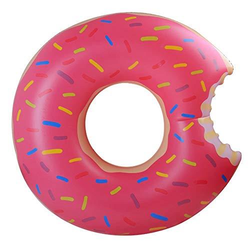 Gcxzb Schwimmreifen Wasser aufblasbarer Donut Schwimmen Ring, Schwimmbad Float Aufblasbare Spielzeug Erwachsene & Kind Schwimmbett Wasser Erholungsstuhl 120cm (Color : Brown)