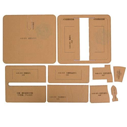 Leder Bastelwerkzeug Brieftasche Acryl Vorlage, Notebook Cover Vorlage Set für DIY Hand Craft Making
