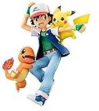 LJXGZY Regalo Pokémon: Ash Ketchum con Pikachu y Charmander - 5 9 Pulgadas PVC ilustración Colección...