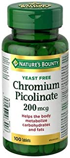 Nature's Bounty Chromium Picolinate 200 mcg, 100 Tablets