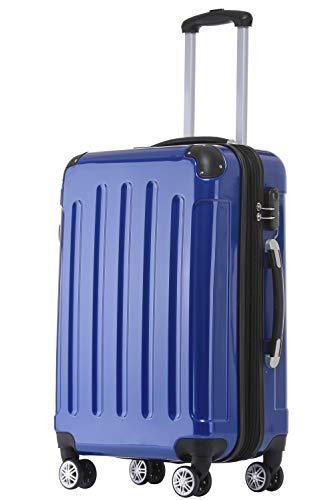 BEIBYE Zwillingsrollen 2048 Hartschale Trolley Koffer Reisekoffer Taschen Gepäck in M-L-XL-Set (Blau, M)