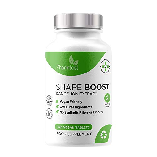 Pharmtect Shape Boost Tablets - Pure Dandelion Root 10:1 Strength Extract...