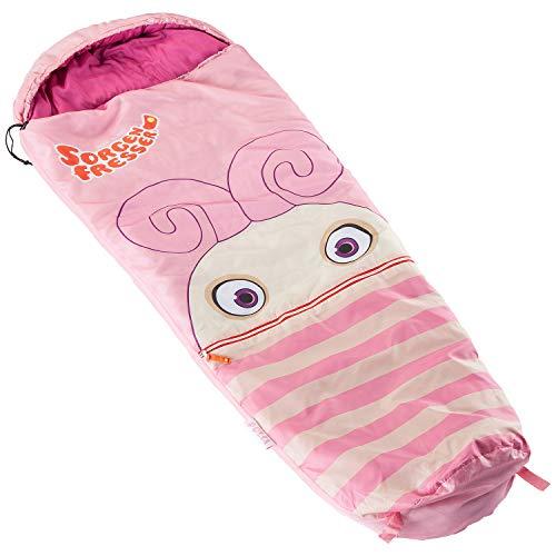 skandika Sorgenfresser Lillifee Schlafsack für Kinder mit großer Tasche, 170 (140 + 30) x 70/45 cm, Polli, Flint, Saggo, Pat, Enno, Lilli (Polli)